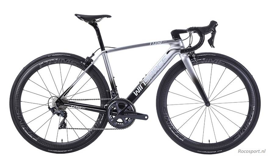 Winspace T1350 Silver Black Shimano R8000 bicycle racingbike racefiets  Rocosport.nl